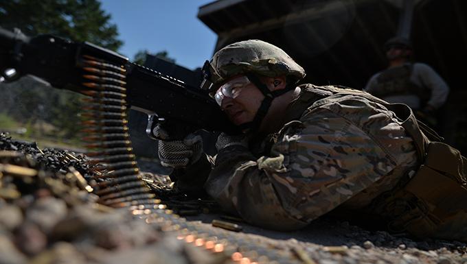 Security Forces Squadron Trains Firing Range