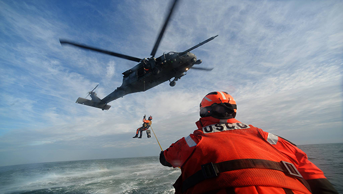 106th Rescue Wing Conducts Training with United States Coast Guard
