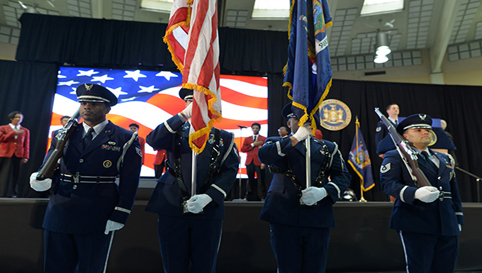 106th Rescue Wing Honor Guard Performs at New York's